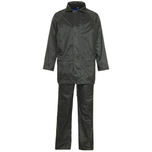Supertouch Polyester/PVC Black Rainsuit